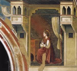 Giotto Di Bondone - No. 15 Annunciation- The Virgin Receiving the Message 1306