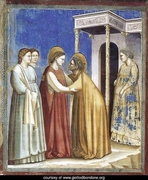 No. 16 Scenes from the Life of the Virgin- 7. Visitation 1306