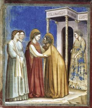 Giotto Di Bondone - No. 16 Scenes from the Life of the Virgin- 7. Visitation 1306