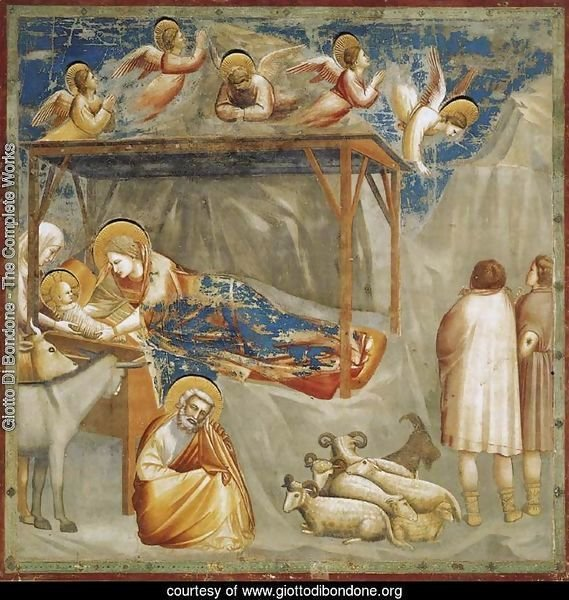 No. 17 Scenes from the Life of Christ- 1. Nativity- Birth of Jesus 1304-06