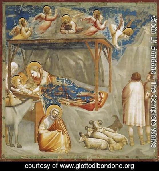 Giotto Di Bondone - No. 17 Scenes from the Life of Christ- 1. Nativity- Birth of Jesus 1304-06