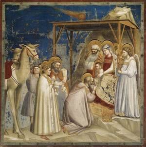 Giotto Di Bondone - No. 18 Scenes from the Life of Christ- 2. Adoration of the Magi 1304-06