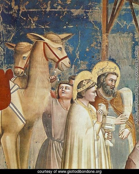 No. 18 Scenes from the Life of Christ- 2. Adoration of the Magi (detail) 1304-06