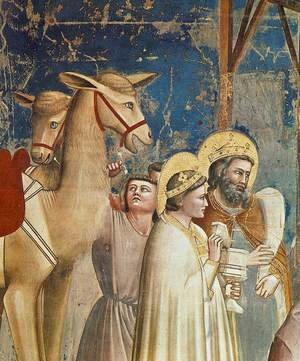 Giotto Di Bondone - No. 18 Scenes from the Life of Christ- 2. Adoration of the Magi (detail) 1304-06