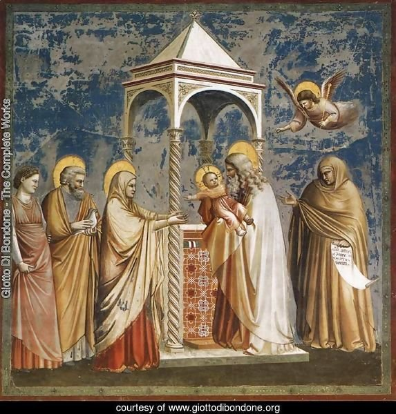 No. 19 Scenes from the Life of Christ- 3. Presentation of Christ at the Temple 1304