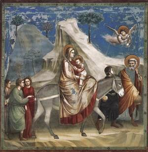 Giotto Di Bondone - No. 20 Scenes from the Life of Christ- 4. Flight into Egypt 1304-06