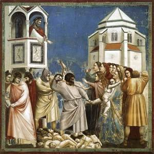 Giotto Di Bondone - No. 21 Scenes from the Life of Christ- 5. Massacre of the Innocents 1304-06