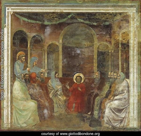 No. 22 Scenes from the Life of Christ- 6. Christ among the Doctors 1304-06