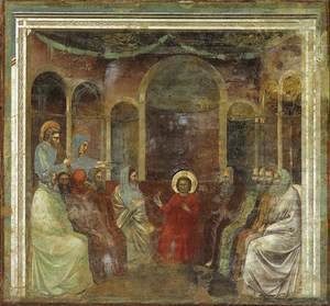 Giotto Di Bondone - No. 22 Scenes from the Life of Christ- 6. Christ among the Doctors 1304-06