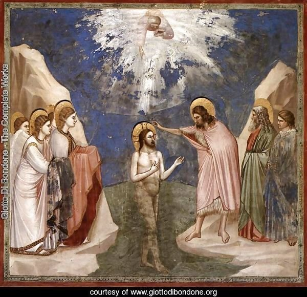 No. 23 Scenes from the Life of Christ- 7. Baptism of Christ 1304-06
