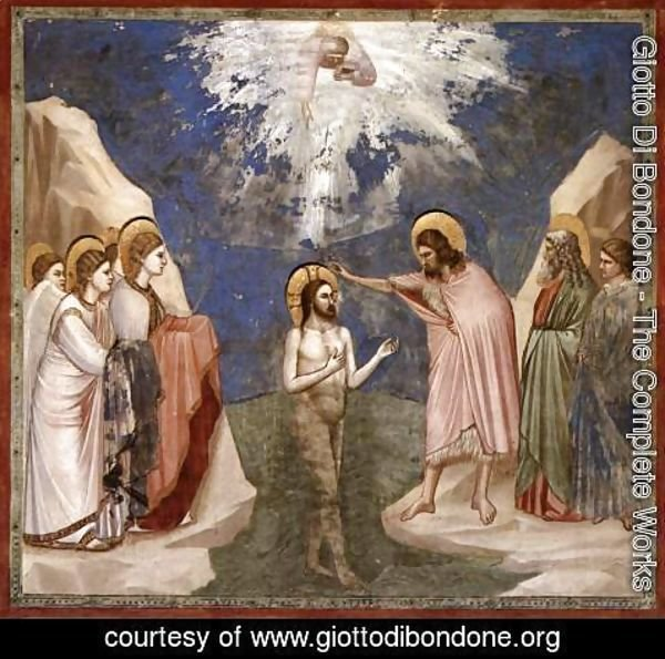 Giotto Di Bondone - No. 23 Scenes from the Life of Christ- 7. Baptism of Christ 1304-06