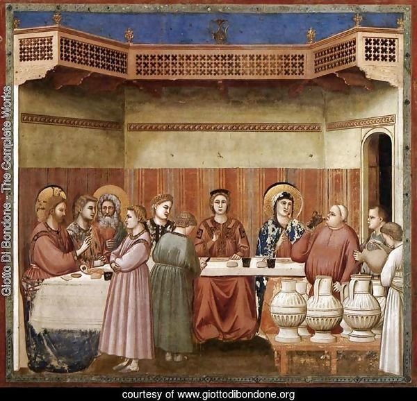 No. 24 Scenes from the Life of Christ- 8. Marriage at Cana 1304-06