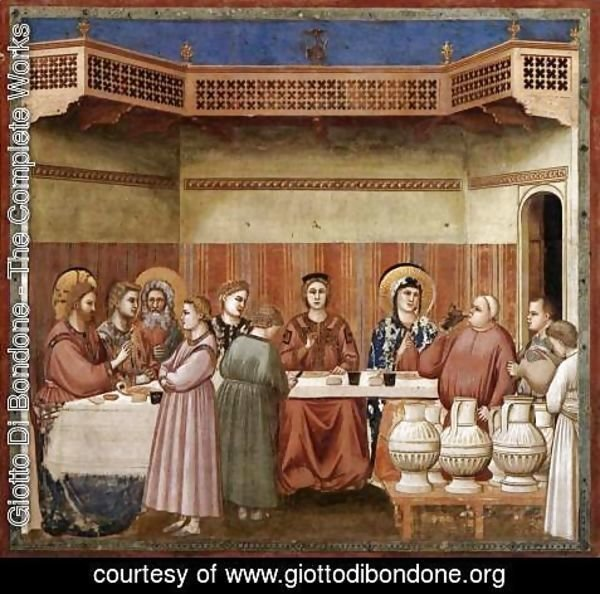 Giotto Di Bondone - No. 24 Scenes from the Life of Christ- 8. Marriage at Cana 1304-06