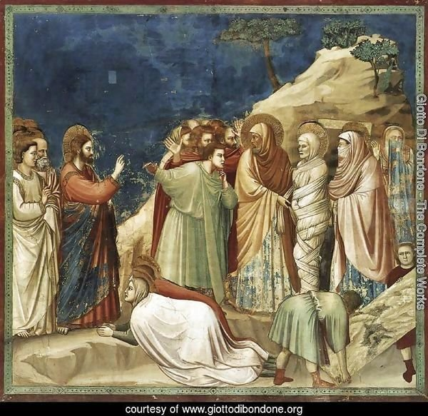 No. 25 Scenes from the Life of Christ- 9. Raising of Lazarus 1304-06