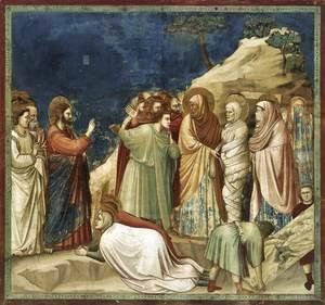 Giotto Di Bondone - No. 25 Scenes from the Life of Christ- 9. Raising of Lazarus 1304-06