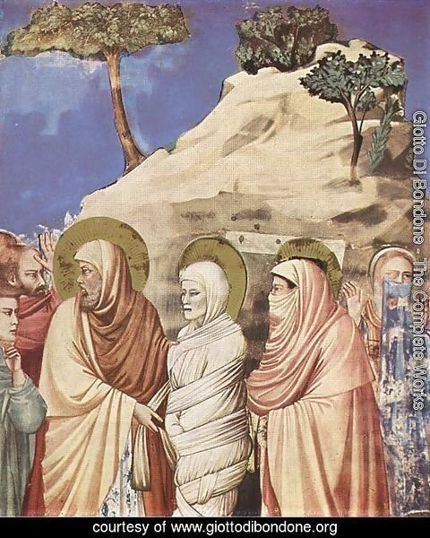 No. 25 Scenes from the Life of Christ- 9. Raising of Lazarus (detail) 1304-06