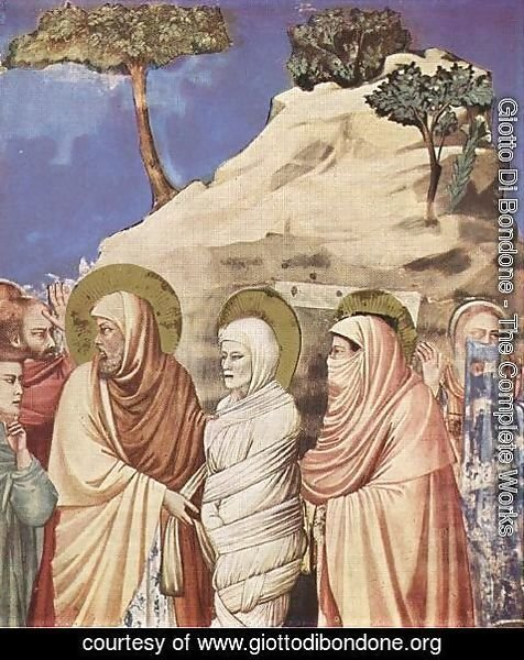 Giotto Di Bondone - No. 25 Scenes from the Life of Christ- 9. Raising of Lazarus (detail) 1304-06