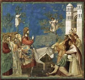 Giotto Di Bondone - No. 26 Scenes from the Life of Christ- 10. Entry into Jerusalem 1304-06