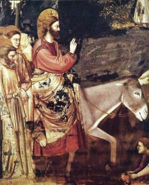 Giotto Di Bondone - No. 26 Scenes from the Life of Christ- 10. Entry into Jerusalem (detail) 1304-06