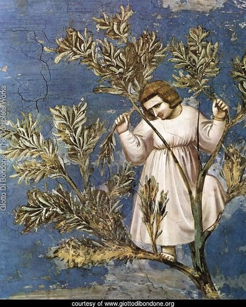 No. 26 Scenes from the Life of Christ- 10. Entry into Jerusalem (detail) 1304