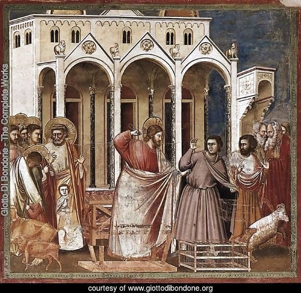 No. 27 Scenes from the Life of Christ- 11. Expulsion of the Money-changers from the Temple 1304