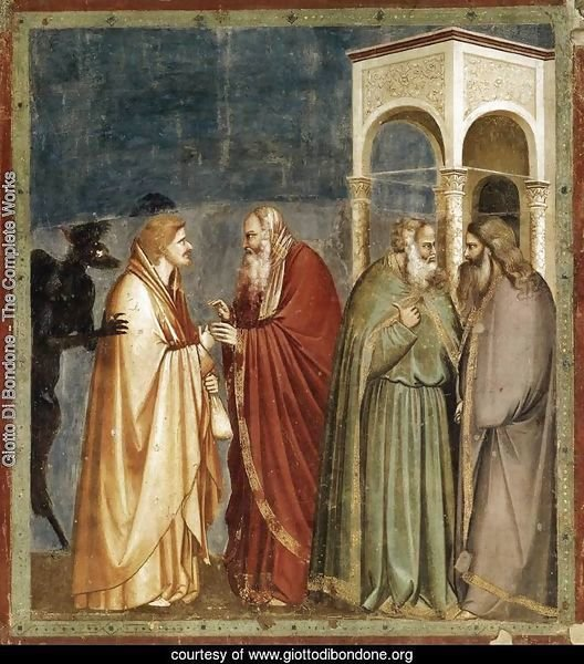 No. 28 Scenes from the Life of Christ- 12. Judas' Betrayal 1304-06