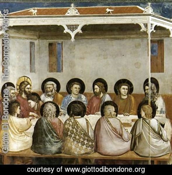 Giotto Di Bondone - No. 29 Scenes from the Life of Christ- 13. Last Supper 1304-06
