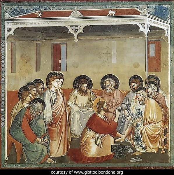 No. 30 Scenes from the Life of Christ- 14. Washing of Feet 1304-06