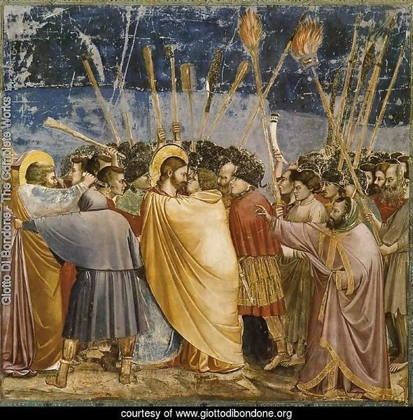 No. 31 Scenes from the Life of Christ- 15. The Arrest of Christ (Kiss of Judas) 1304-06