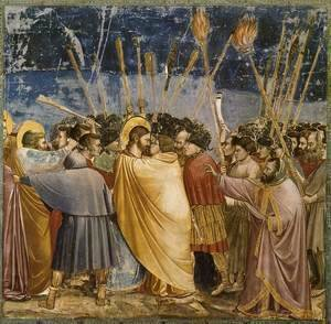 Giotto Di Bondone - No. 31 Scenes from the Life of Christ- 15. The Arrest of Christ (Kiss of Judas) 1304-06