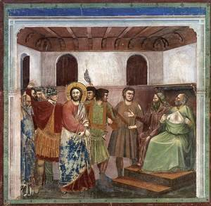 No. 32 Scenes from the Life of Christ- 16. Christ before Caiaphas 1304-06