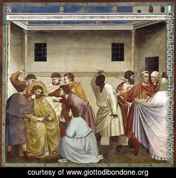 Giotto Di Bondone - No. 33 Scenes from the Life of Christ- 17. Flagellation 1304-06