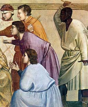 Giotto Di Bondone - No. 33 Scenes from the Life of Christ- 17. The Flagellation (detail) 1304-06