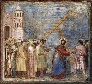 Giotto Di Bondone - No. 34 Scenes from the Life of Christ- 18. Road to Calvary 1304-06