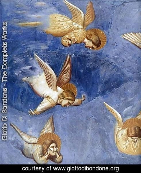 Giotto Di Bondone - No. 36 Scenes from the Life of Christ- 20. Lamentation (detail) 1304-06