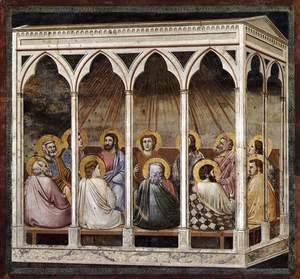 Giotto Di Bondone - No. 39 Scenes from the Life of Christ- 23. Pentecost 1304-06