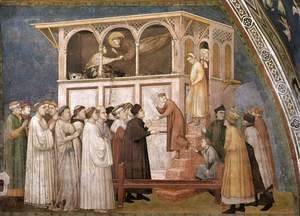 Giotto Di Bondone - Raising of the Boy in Sessa 1310s