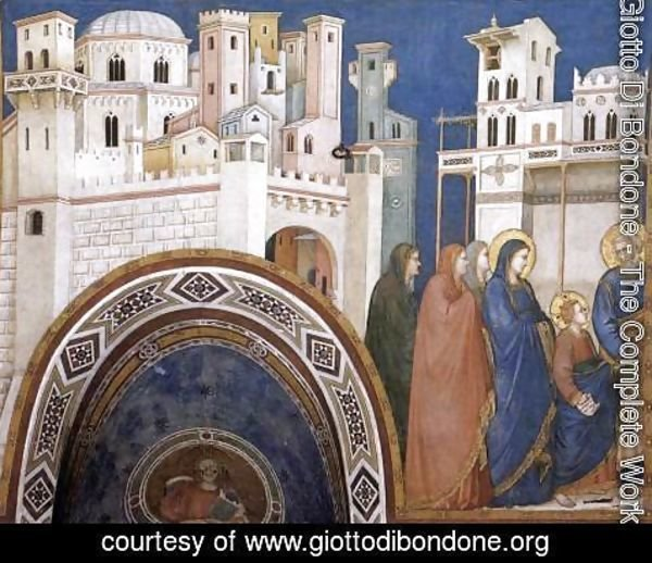 Giotto Di Bondone - Return of Christ to Jerusalem 1310s