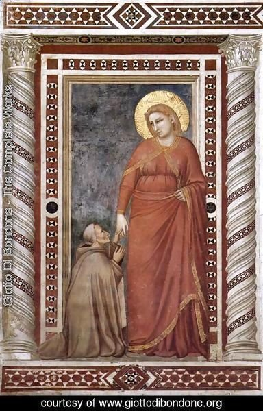 Giotto Di Bondone - Scenes from the Life of Mary Magdalene- Mary Magdalene and Cardinal Pontano 1320s