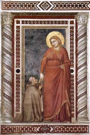 Scenes from the Life of Mary Magdalene- Mary Magdalene and Cardinal Pontano 1320s