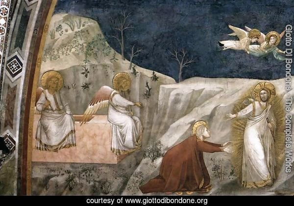 Scenes from the Life of Mary Magdalene- Noli me tangere 1320s