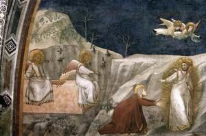 Giotto Di Bondone - Scenes from the Life of Mary Magdalene- Noli me tangere 1320s