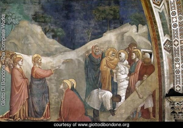 Scenes from the Life of Mary Magdalene- Raising of Lazarus 1320s