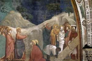 Giotto Di Bondone - Scenes from the Life of Mary Magdalene- Raising of Lazarus 1320s