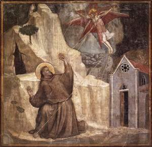 Giotto Di Bondone - Scenes from the Life of Saint Francis- 1. Stigmatisation of Saint Francis 1325