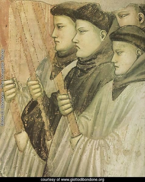 Scenes from the Life of Saint Francis- 4. Death and Ascension of St Francis (detail 3) 1325