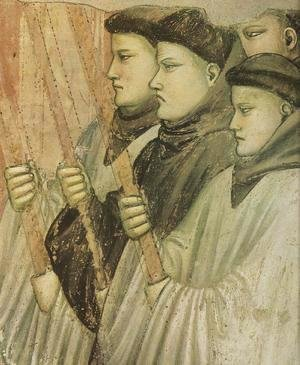 Giotto Di Bondone - Scenes from the Life of Saint Francis- 4. Death and Ascension of St Francis (detail 3) 1325