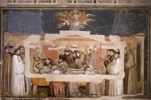 Giotto Di Bondone - Scenes from the Life of Saint Francis- 4. Death and Ascension of St Francis c. 1325