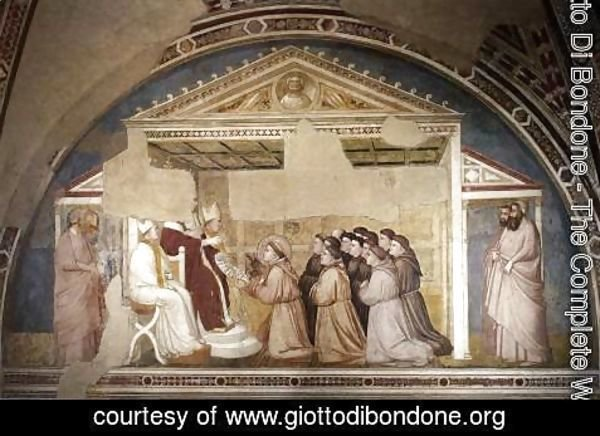 Giotto Di Bondone - Scenes from the Life of Saint Francis- 5. Confirmation of the Rule 1325