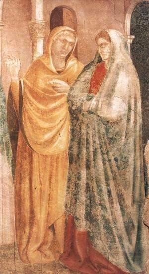 Giotto Di Bondone - Scenes from the Life of St John the Baptist- 1. Annunciation to Zacharias (detail) 1320